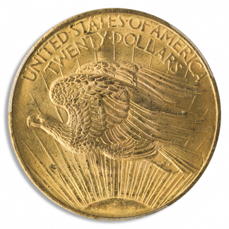 $20 ST GAUDENS CERTIFIED MS64 CAC