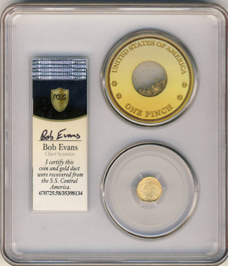 1853 $1 Gold SSCA Pinch Of Dust PCGS AU58