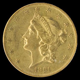 1861-O $20 Liberty PCGS AU53