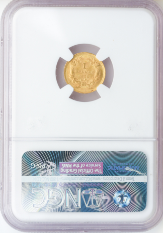 1859 $1 Gold NGC MS63 CAC
