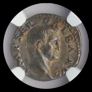 Roman Empire Galba Denarius