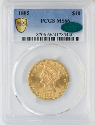 1885 $10 Liberty PCGS MS66 CAC