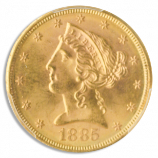 1885-S $5 Liberty PCGS MS66 CAC