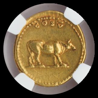 Roman Empire Titus Aurues NGC AU Str:5 Srf:3 7.28g