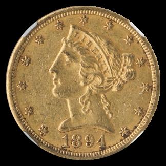 1894-O $5 Liberty NGC AU55 CAC