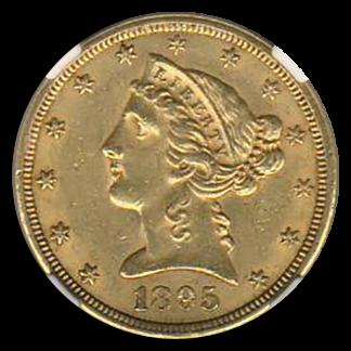 1895-S $5 Liberty NGC AU58 CAC
