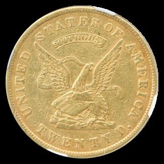 1853 $20 Assay NGC AU50