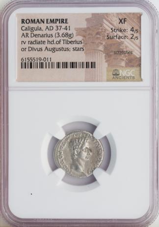 Roman Empire Caligula Denarius