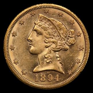 1894-O $5 Liberty NGC AU58 CAC