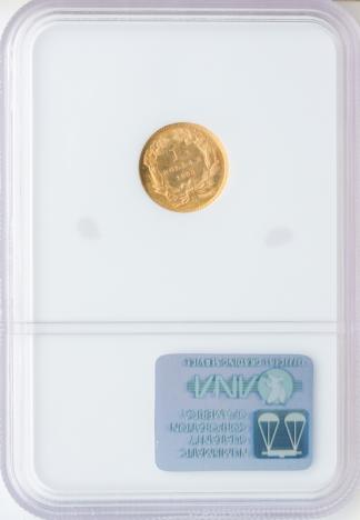 1860-S $1 Type 3 NGC MS64