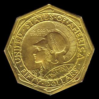 1915-S $50 Panama Pacific Octagonal PCGS MS62