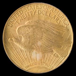 1913 $20 Saint Gaudens PCGS MS64
