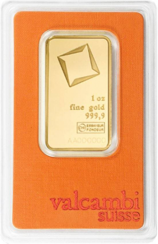 IRA 1 oz Gold Bar (New w/Assay, Types Vary)