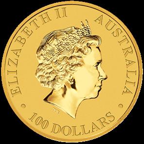 1 oz Australian Gold Kangaroo Coin (Dates Vary, BU)