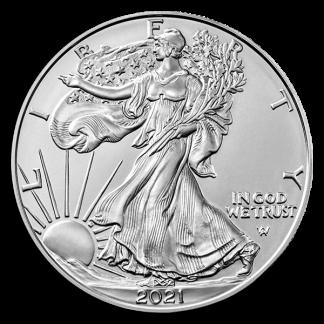 1 oz American Silver Eagle Coin (BU, Dates Vary)