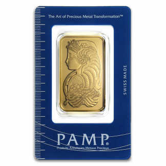 1 oz Pamp Suisse Gold Bar (With Assay, Types Vary, Conditions Vary)
