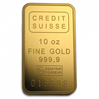 10 oz Credit Suisse Gold Bar (With Assay, Types Vary, Conditions Vary)n