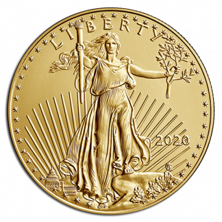 1/2 oz American Gold Eagle Coin (BU, Dates Vary)