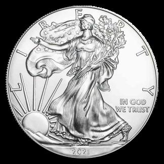 2021 1 oz American Silver Eagle Coin (BU, Type II)
