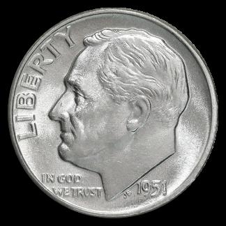 90% Silver Roosevelt Dimes - $1.00 Face Value