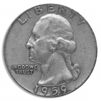 90% Silver Washington Quarters - $1.00 Face Value