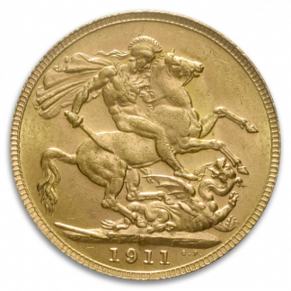 British Gold King Sovereign Coin (Circ, Dates Vary)