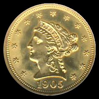 1905 $2 1/2 Liberty NGC MS65 CAC