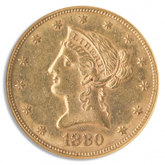1880-CC $10 Liberty NGC AU58