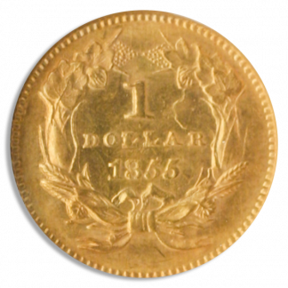 $1 GOLD 1855 TY2 NGC