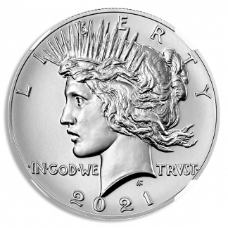 2021 Peace Dollar NGC MS70 100th Anniversary Early Releases