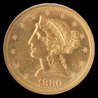 1880-S $5 Liberty NGC MS63 CAC