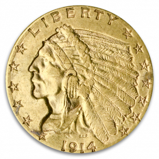 $2 1/2 Indian VF