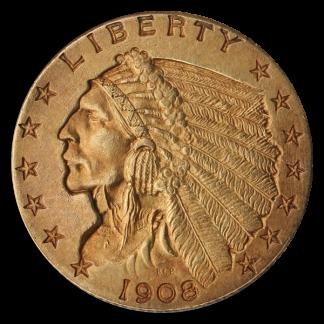 $2 1/2 Indian XF
