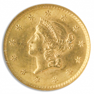 $1 Gold Type 1 Certified MS63