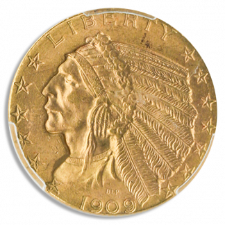 $5 Indian Certified MS61