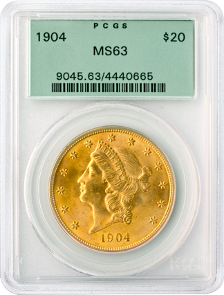 $20 Liberty MS63 Certified