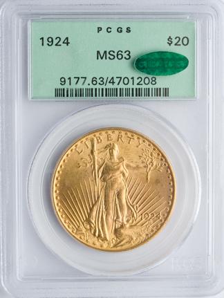 $20 Saint Gaudens MS63 CAC