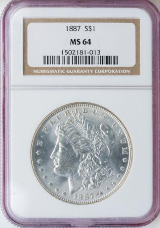 $1 Morgan MS64 Certified
