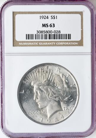 $1 Peace MS63 Certified