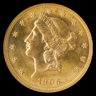 1906 $20 Liberty NGC MS64