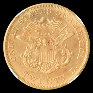 1864-S $20 Liberty NGC MS61