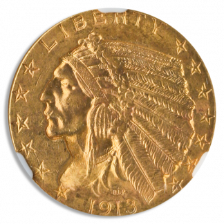 1913 $5 Indian NGC MS63 CAC