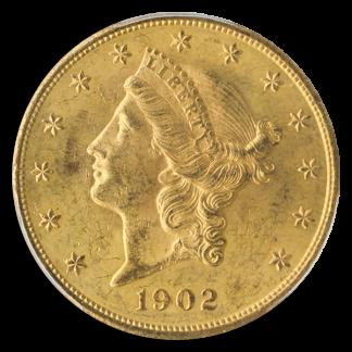 1902 $20 Liberty PCGS MS62 CAC