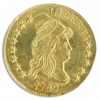 1799 $10 Draped Bust Small Star Obverse PCGS MS62 CAC