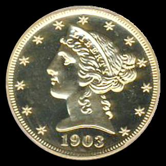 1903 $5 Liberty PCGS PR66 Cameo CAC