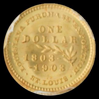 1903 $1 Gold LA Purchase Commemorative PCGS MS67 CAC