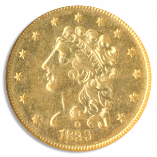 1839-O $2 1/2 Classic NGC AU58