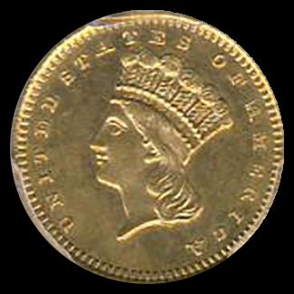 1870-S $1 Gold Type III PCGS MS63