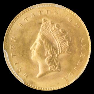 1854 Type II Gold $1 PCGS MS63