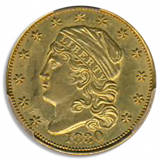 1830 $2.50 Capped Bust Small Denticles PCGS MS61